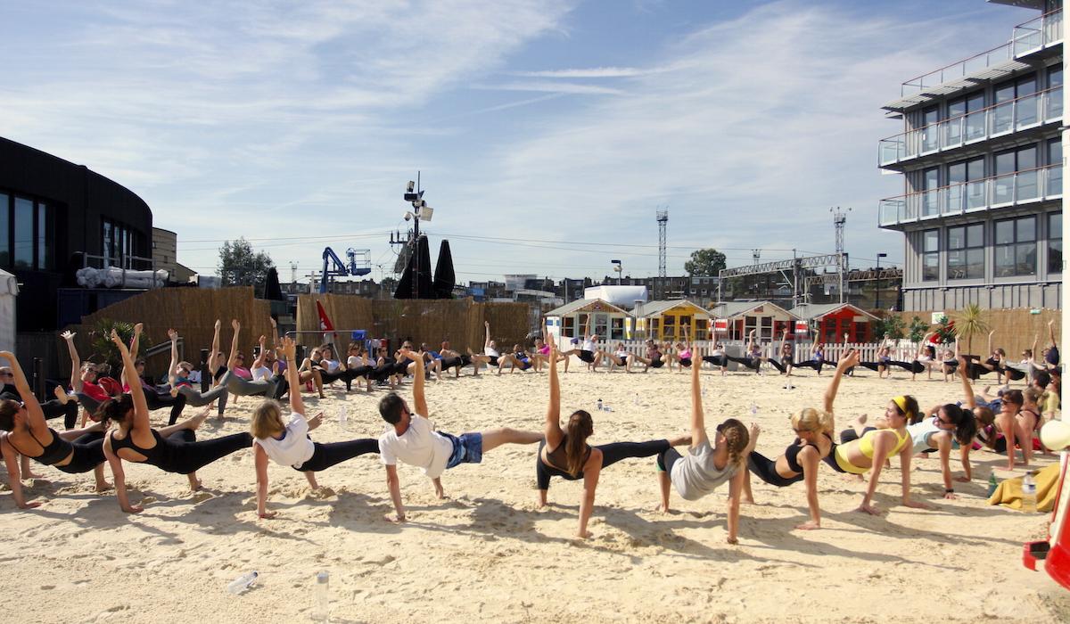 Team Building Corporate Yoga London with Richard Brook - Creative Wellness